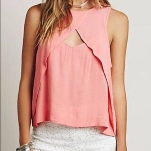 Free People Open Front Melon Tank